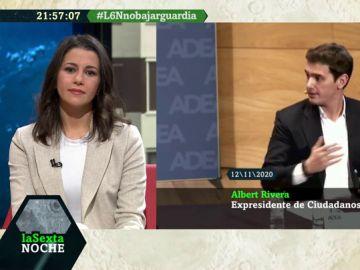 Así responde Arrimadas a las palabras de Rivera y Girauta por tender la mano a Sánchez para aprobar los Presupuestos