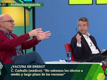 """""""A la gente hay que decirle lo que hay"""": el debate sobre la vacuna entre César Carballo y José Antonio López"""