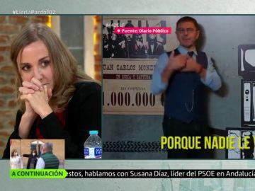 Tania Sánchez en Liarla Pardo