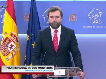 """Espinosa de los Monteros relaciona la ley Celáa con una """"conspiración pro-abortista"""": """"Se está induciendo a las mujeres a abortar"""""""