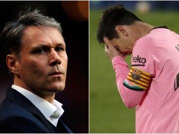 Marco van Basten y Leo Messi