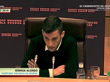 El emotivo discurso con el que Joshua Alonso reivindicó en el Senado una pensión para los huérfanos de la violencia machista