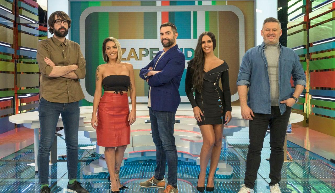 El equipo de Zapeando, de izda. a drcha.: Quique Peinado, Lorena Castell, Dani Mateo, Cristina Pedroche y Miki Nadal