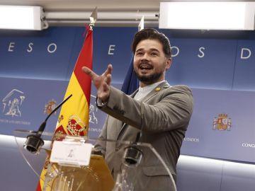 Polémica política por la propuesta de subir impuestos de Rufián en Madrid