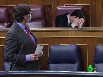 Vídeo manipulado - El monumental enfado del ministro Illa en pleno Congreso que hace llorar a un diputado