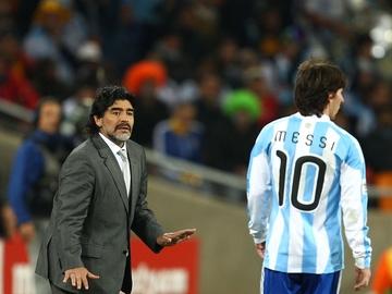 Maradona, con Messi