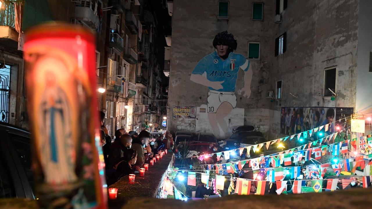 Despedida a Diego Armando Maradona en Nápoles
