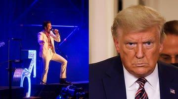 Imagen de archivo de The Killers y Donald Trump