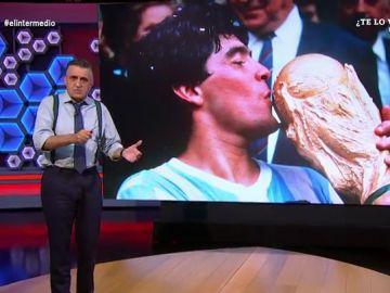 """La reflexión de Wyoming sobre Maradona: """"¿Por qué todo el mundo idolatraba a un personaje lleno de luces y sombras?"""""""