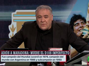 Ferreras homenajea a Maradona