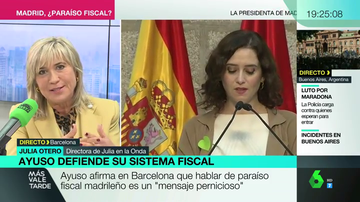 "Julia Otero responde a Ayuso por las críticas al pacto fiscal: ""Lo que apoyo para Europa, lo apoyo para España"""