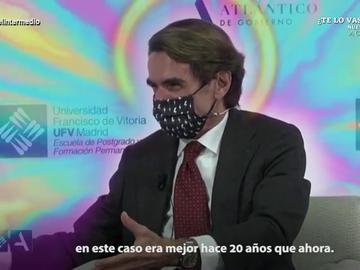 """La reacción de Wyoming y el Dani Mateo a las risas de Aznar tras afirmar que """"España era mejor hace 20 años que ahora"""""""