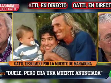 'Loco' Gatti, hundido en 'El Chiringuito' tras la muerte de Diego Maradona
