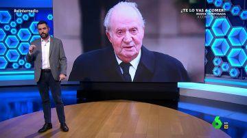 El análisis de Dani Mateo tras descubrir que el rey emérito compró tres armas por más de 100.000 euros