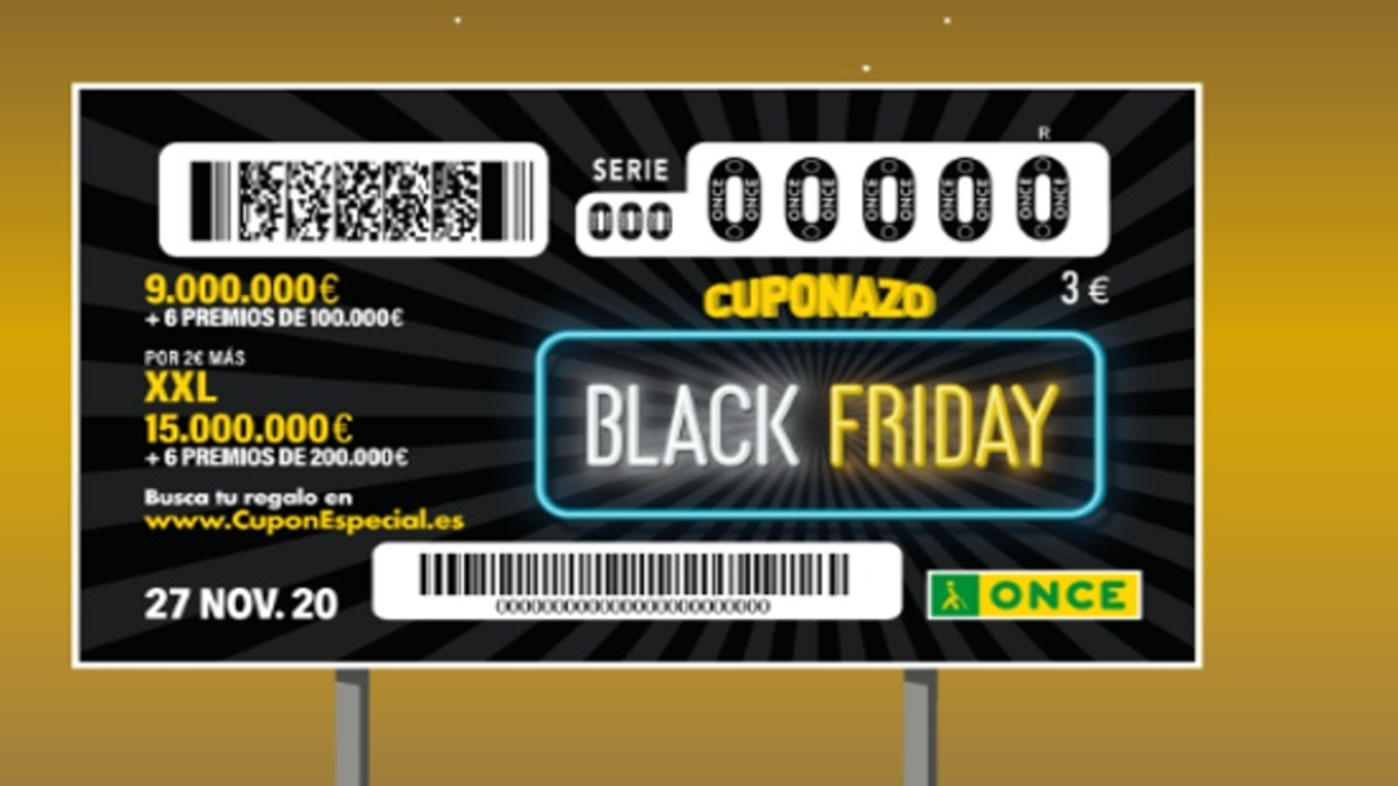 Black Friday 2020: el Cuponazo de la ONCE sorteará cientos de tarjetas para Amazon