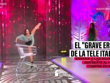 """El bochornoso tutorial emitido en la televisión italiana sobre cómo ser """"mujeres sexys"""" haciendo la compra"""