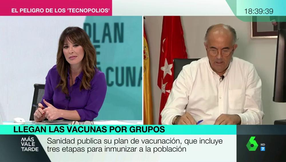 """Antonio Zapatero: """"Como médico, en cuanto pueda me vacuno. Es parte de la solución y no tengo ningún miedo"""""""