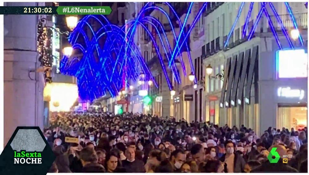 Aglomeraciones de personas en Madrid