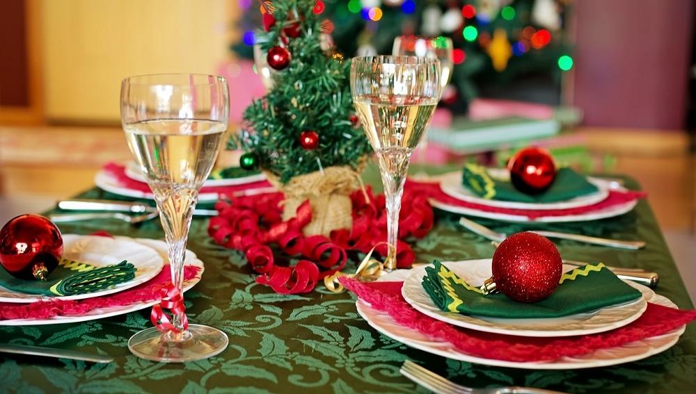 Imagen de archivo de una cena de Navidad