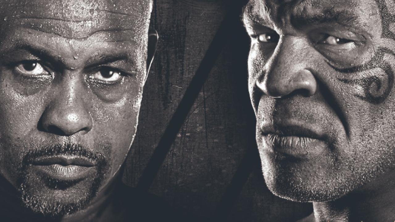Cartel de la pelea entre Roy Jones Jr. y Mike Tyson