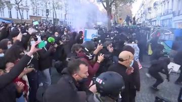 Imagen de manifestantes en París