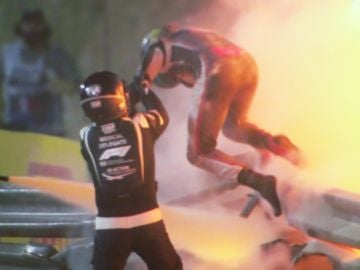 Así salió Grosjean del Haas en llamas