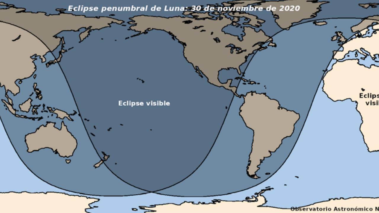 Eclipse penumbral: así se verá en el mundo