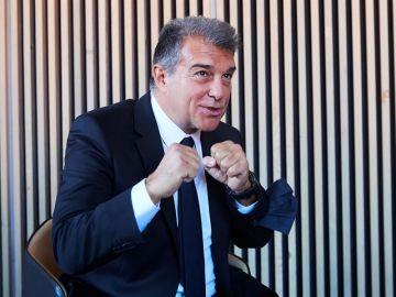 Joan Laporta, en el acto de presentación de su precandidatura al Barça.