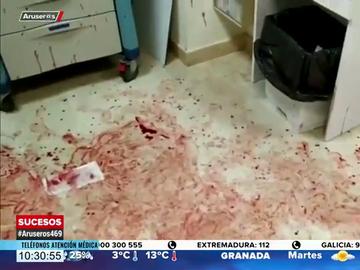 Así ha quedado un servicio de Urgencias en Murcia después de que un joven agrediera a los sanitarios mientras se desangraba