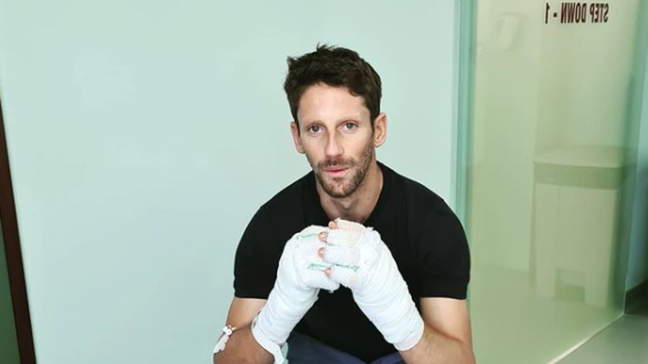 Romain Grosjean continúa recuperándose en el hospital