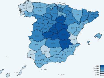 Prevalencia global de anticuerpos en España