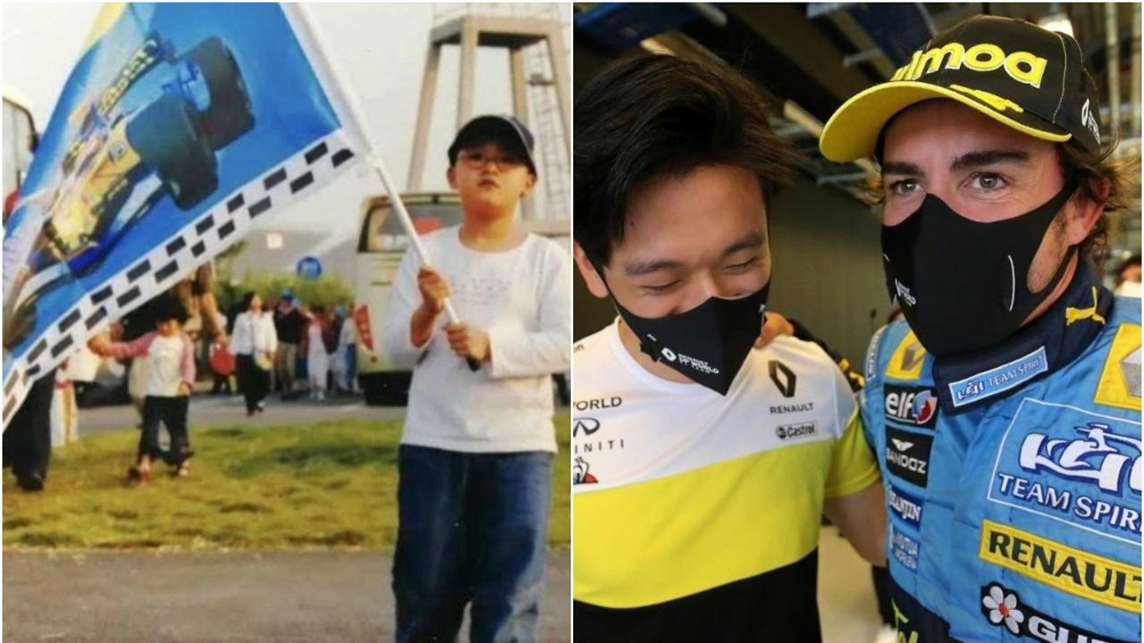 Guanyu Zhou y Fernando Alonso