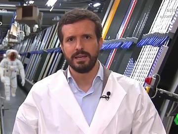 Vídeo manipulado - El estremecedor grito de un astronauta que interrumpe un discurso de Pablo Casado sin que este se inmute