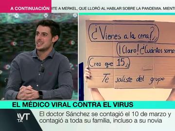 """El mensaje del doctor Sánchez, viral por sus carteles contra el COVID: """"Nos hemos esforzado mucho para llegar a esta Navidad, y aún no estamos para hacer esto"""""""