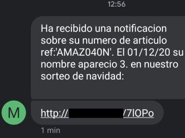 ¿Has recibido un SMS de un sorteo de Navidad de Amazon? Cuidado, podría ser una estafa