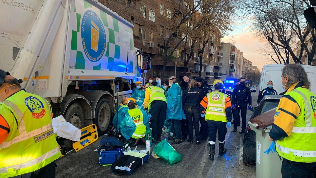 Un camión atropella a una ciclista en Madrid