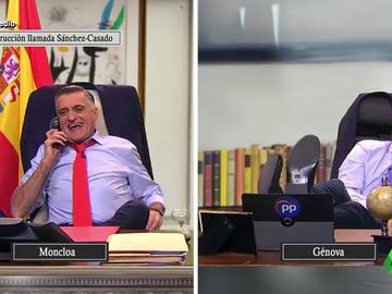 """El Intermedio reconstruye la llamada de Sánchez a Casado: """"¿Has terminado de hablar con tus amiguitos los batasunos?"""""""