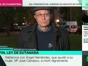 Ángel Hernández, después de aprobarse la ley de eutanasia
