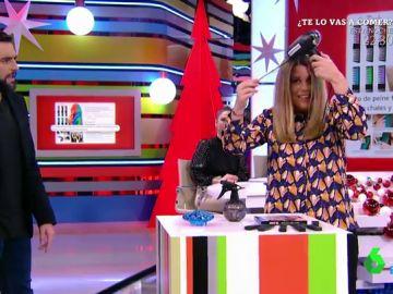 Valeria Ros se tiñe el pelo multicolor: así es el momento en el que deja alucinado a Dani Mateo en pleno directo