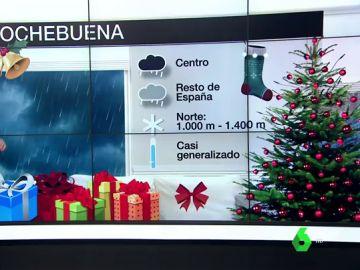 Lluvias, nieve y temperaturas especialmente bajas: así será el tiempo en Nochebuena y Navidad