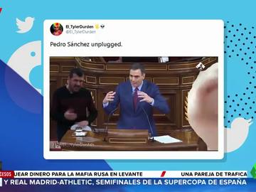 """""""Pedro Sánchez unplugged"""", el """"adictivo"""" videomontaje del presidente en el Congreso que arrasa en Twitter"""