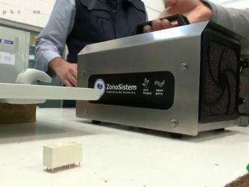 Imagen de una máquinas de ozono