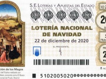 'La Adoración de los Magos' de El Bosco: así es la imagen del décimo de la Lotería de Navidad 2020