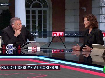 La vicepresidenta Carmen Calvo, en ARV.