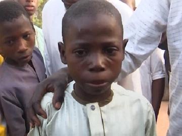 Imagen de un niño nigeriano que fue secuestrado por Boko Haram