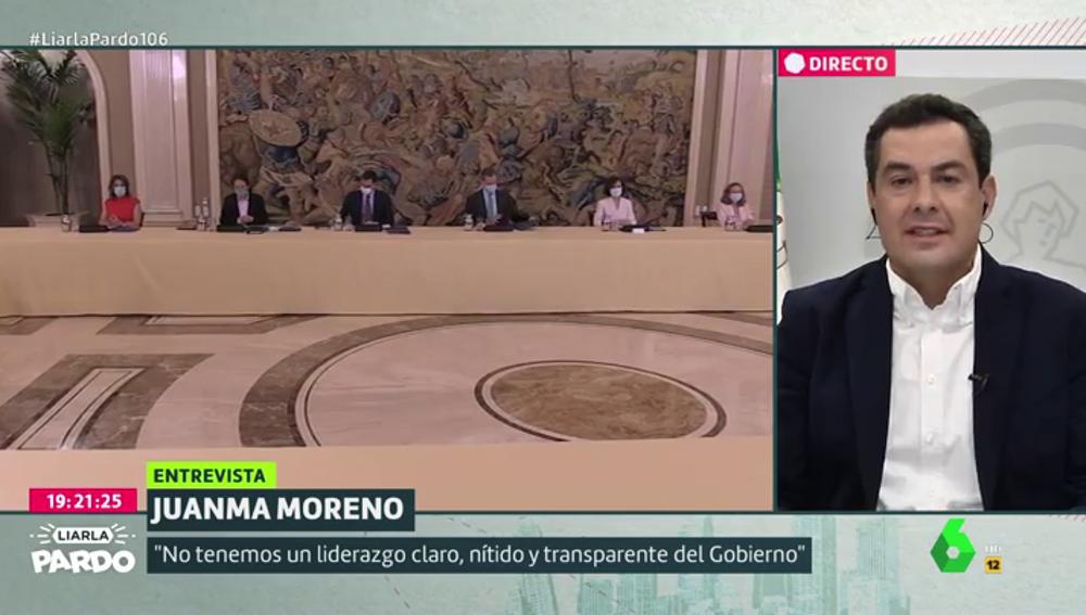 Juanma Moreno en Liarla Pardo