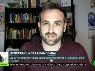 """El análisis de la evolución de la pandemia del matemático García Cremades: """"La tercera ola es ya una realidad"""""""