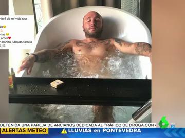 El posado de Kiko Rivera desnudo en la bañera que ha revolucionado las redes: así luce pectoral