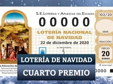 Estos son los cuartos premios de la Lotería de Navidad 2020
