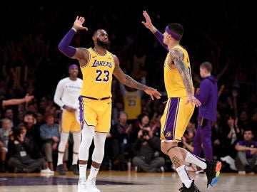 LeBron James y Kyle Kuzma